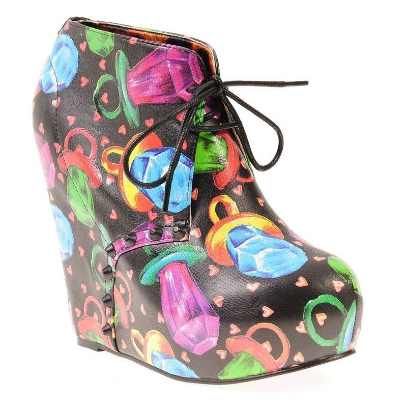 Iron Fist Ring Pop Wedge Womens Shoes | eBay