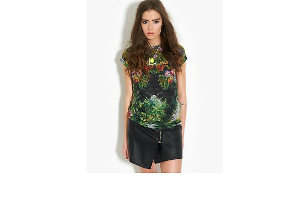 BLONDE & BLONDE  Tropical Floral T-Shirt - BANK Fashion