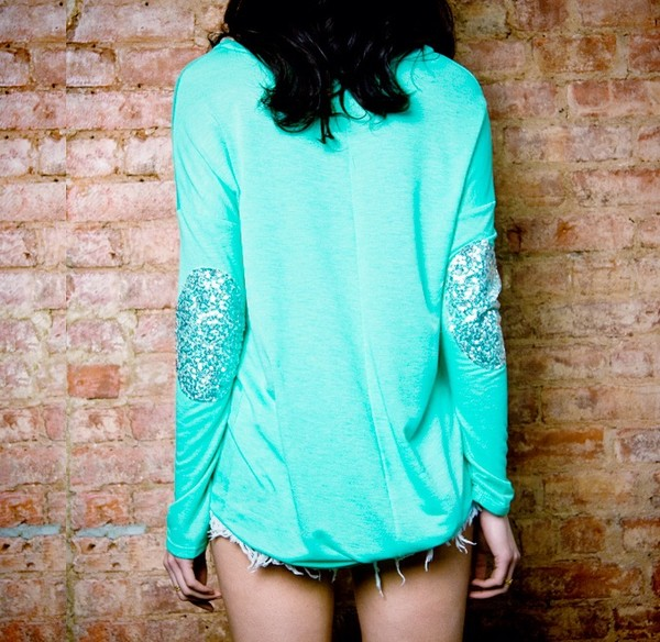 shirt sequin top sequin tshirt sequin tee sequin elbow patch sequin elbow patch sweater sweater with patches