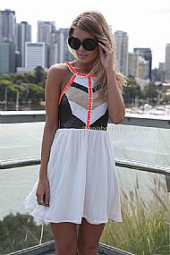 CAGE BACK SEQUIN JEWEL DRESS , DRESSES, TOPS, BOTTOMS, JACKETS & JUMPERS, ACCESSORIES, SALE, PRE ORDER, NEW ARRIVALS, PLAYSUIT, COLOUR,,Black,White,CUT OUT,Orange,Sequin Australia, Queensland, Brisbane