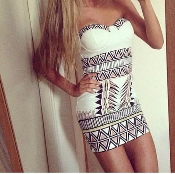 dress white white dress black gold strapless corset