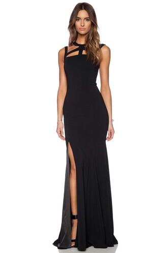 dress black formal long elegant classy styli