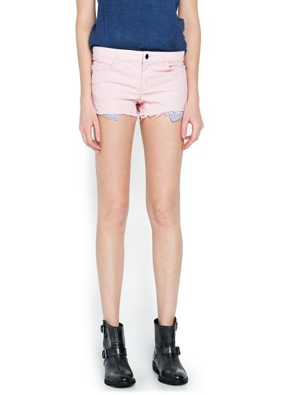 MANGO - CLOTHING - Shorts - Contrast pocket short