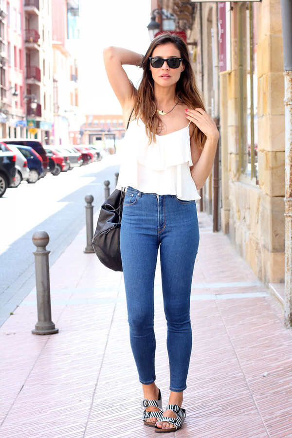 lady addict top jeans shoes