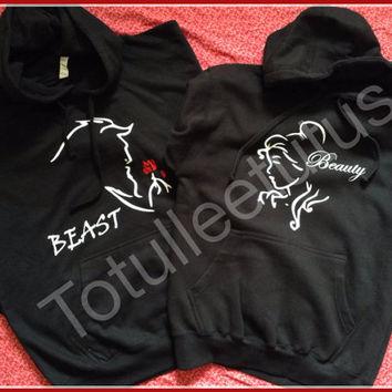 Matching Beauty and The Beast Disney Inspired Hoode Sweatshirts on Wanelo