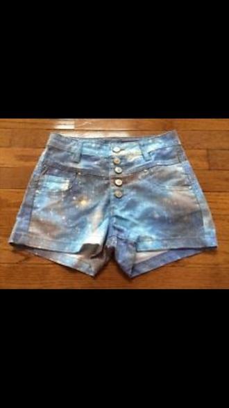 shorts galaxy high waisted shorts skylar