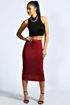 Mindy Midi Skirt at boohoo.com