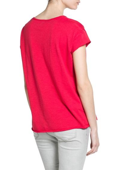 MANGO - CLOTHING - Coats - Slub-cotton t-shirt