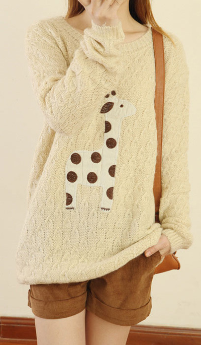 Lovely Sleeve Sweater&Cardigan Cute Fawn  · unusual · Online Store Powered by Storenvy