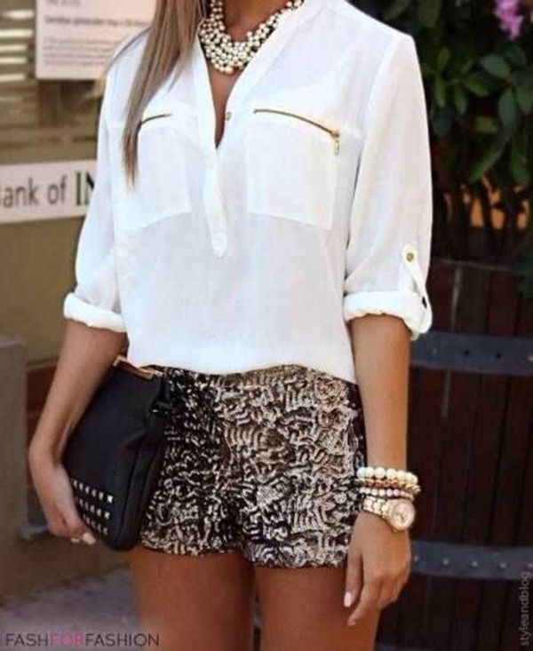 shorts Sequin shorts gold sequins ici fashion icifashion