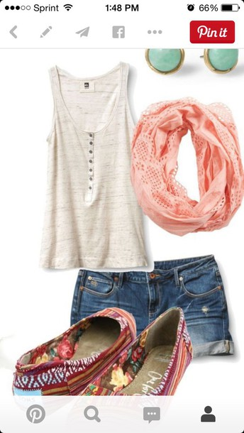 scarf pink lace