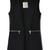 Black Lapel Sleeveless Zipper Embellished Blazer - Sheinside.com