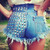 Dangers Half Studded Vintage Levis Shorts | RUNWAYDREAMZ