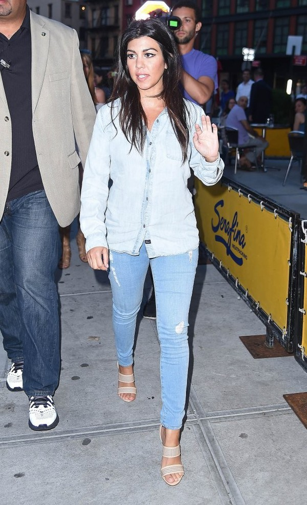 jeans kourtney kardashian blouse shoes