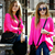 ROMWE | Kintted Loose Sheer Fluorescent Rose Jumper, The Latest Street Fashion