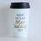 The original - what would blair waldorf do / black and gold travel coffee mug - quote - gift - chuck bass - queen b - motivational - serena