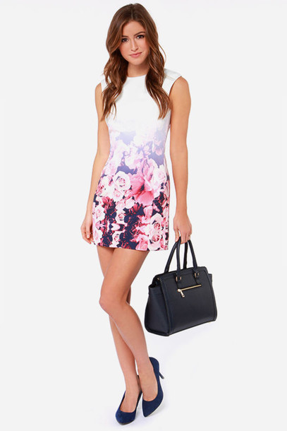 dress sway floral dress ombre flowers