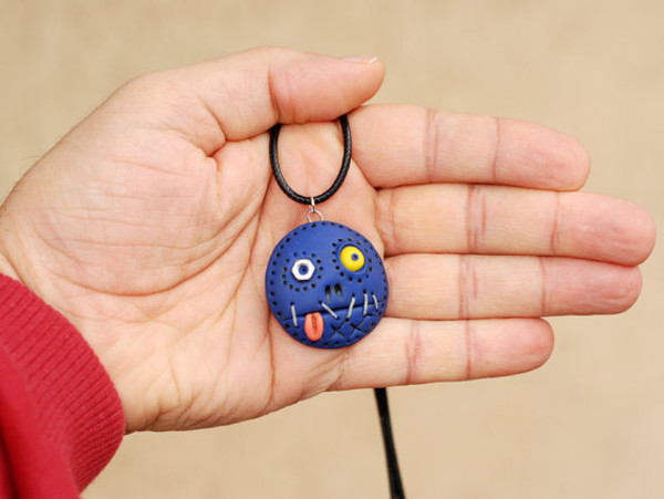jewels cyclops pendant necklace pendant tongue monster magical necklace lucky charms skeleton necklace