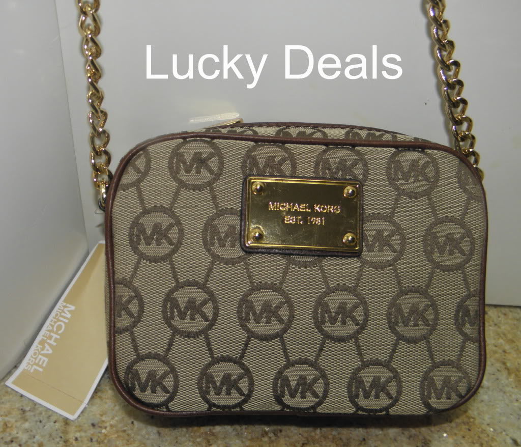 Michael Kors Jet Set MK Monogram Logo Messanger Crossbody Handbag Bag Brown | eBay