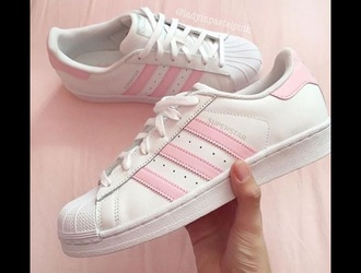 shoes pink addidas superstars