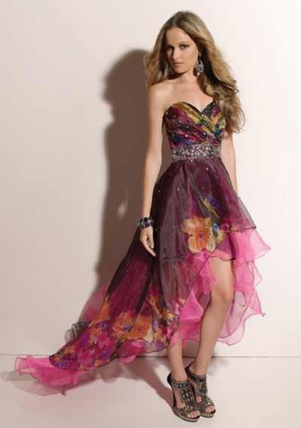 dress prom dress colorful dress sweetheart neckline flowy pink dress homecoming dress