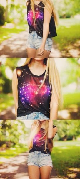 t-shirt galaxy shirt shorts