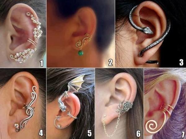 jewels jewelry earrings ear cuff earphones diamond ear cuff ear wraps ear wrap non pierced behind the ear ear climber ear cuff cuffs dragon dragon earrings Accessory