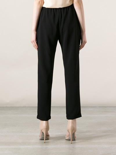 Stella Mccartney Cropped Drawstring Trouser - Luisa World - Farfetch.com