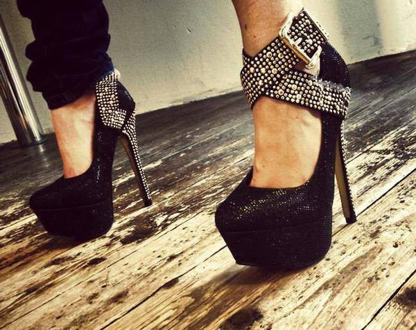 shoes platform shoes glitter straps high heels wow