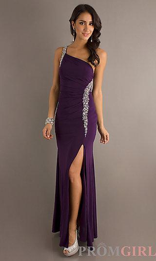 One Shoulder Prom Gown, Red Carpet Formal Dress- PromGirl