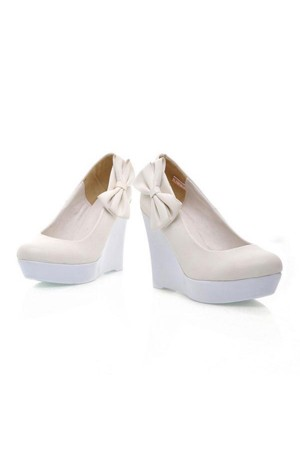 Faux Leather Pure Color Side Bow Platform Wedges @ Womens Wedges Shoes:Wedge Shoes,Wedge Sandals,Platform Wedges,Cheap Sexy Wedge Shoes,Wedge Dress Shoes,Ladies Sexy Shoes,Leopard Print Wedges,Lace Up Wedges,Girls Strappy Wedges for wholesale price