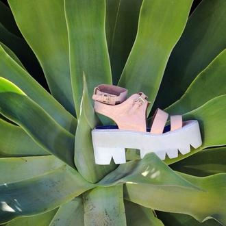 shoes cute platform sandals sandals cleated sole platforms lug sole pink