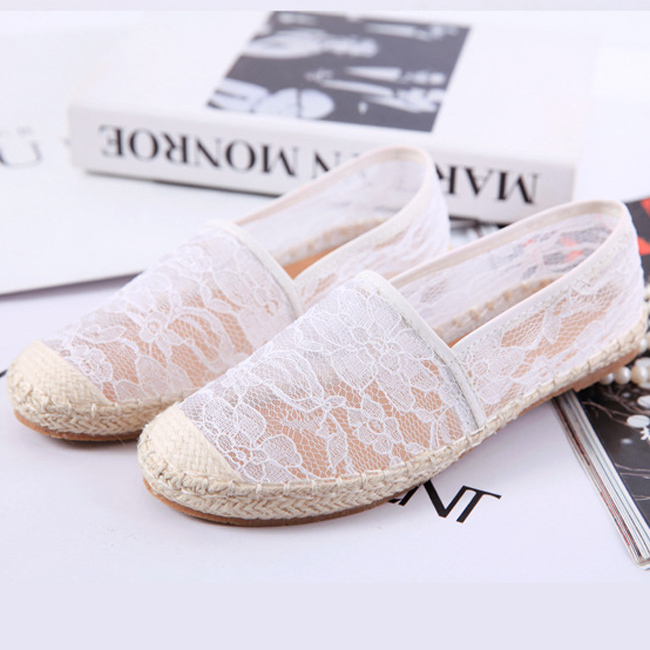 TOP284 Summer Women White Black Lace Flat Shoes Vintage Transparent Show Hollow Out Lace Flat Leisure Shoes Casual Lace Flats-in Flats from Shoes on Aliexpress.com