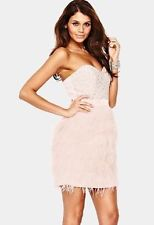 Lipsy V I P@ASOS Beaded Bust Feather Prom Cocktail Party Bandeau Dress RRP 175 | eBay