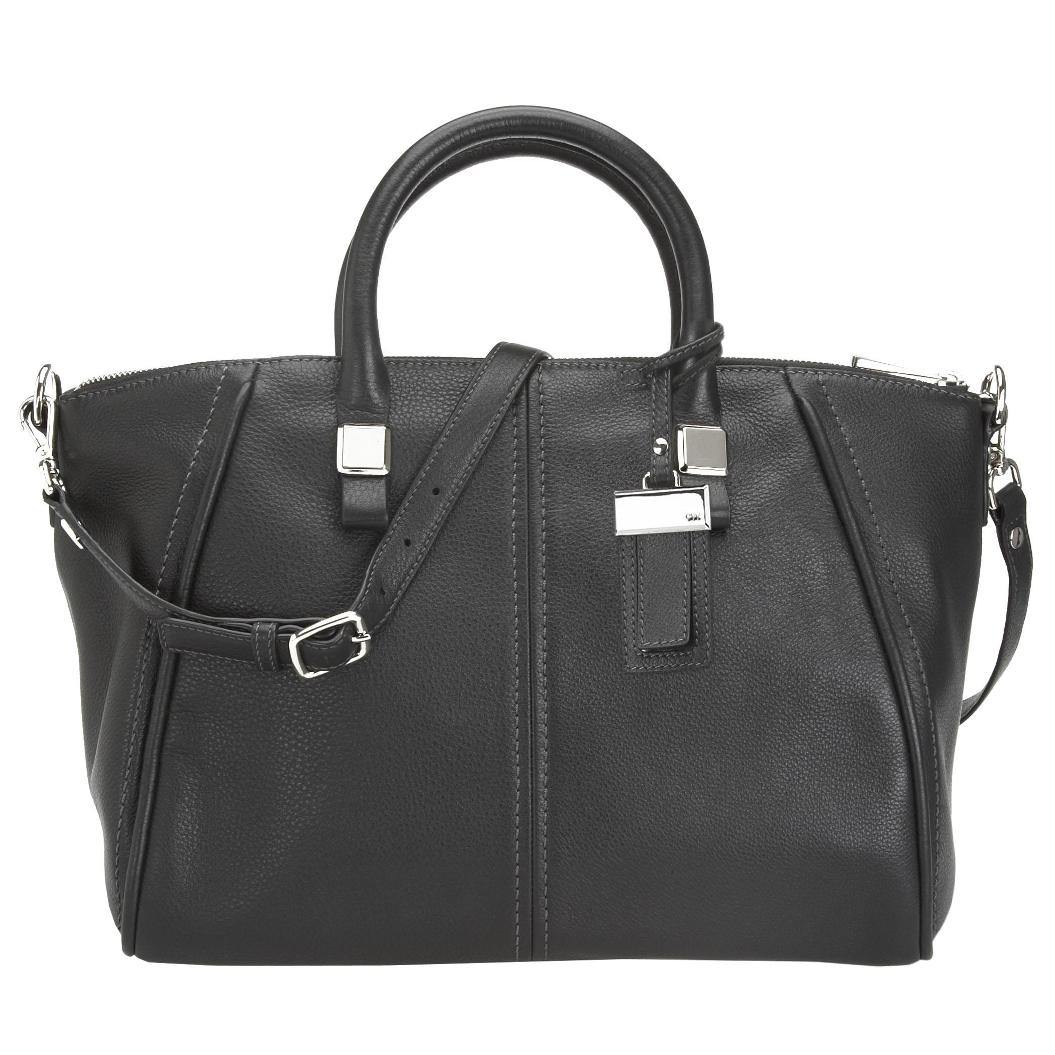 Nine West: Handbags & Accessories > Leather Handbags & Accessories > TRIBECA PEBBLED LEATHER SATCHEL BAG  - LEATHER SATCHEL BAG
