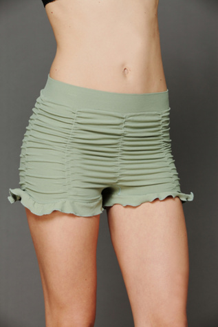 intimately womens ruched seamless shorts