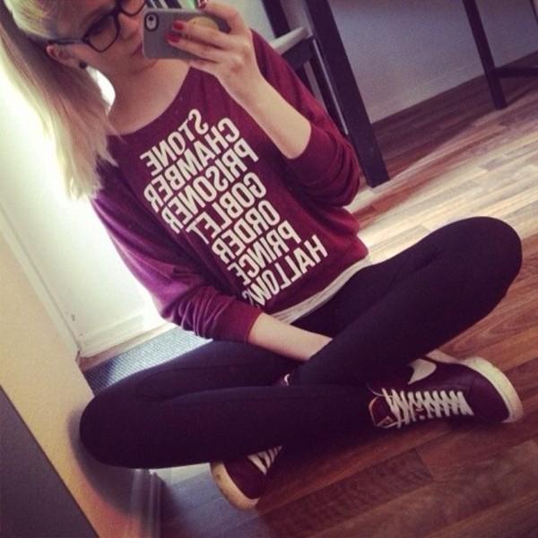 sweater bff jumper pullover harry potter nerd shirt hogwarts
