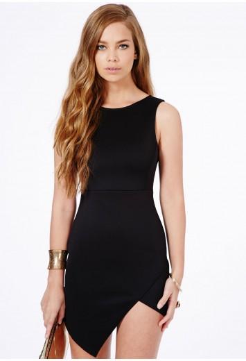Kimberley Asymmetric Bodycon Dress - Dresses - Bodycon Dresses - Missguided