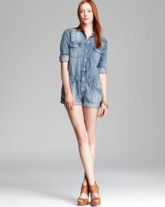 Joe's Jeans Romper- Shirttail in Sandie | Bloomingdale's