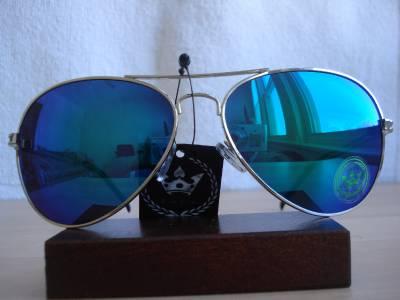New Limited CHP Triple Crown Designer Blue Green Mirror Aviator Men Sunglasses H | eBay