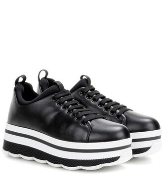 sneakers platform sneakers leather black shoes