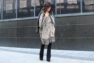 madame rosa blogger folk jacket pants jewels belt