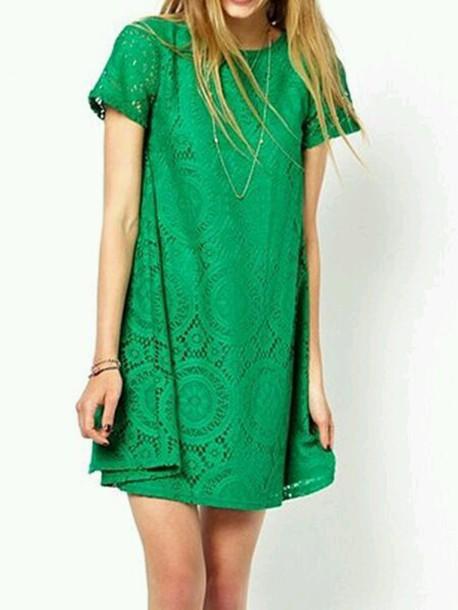 dress emerald green dress