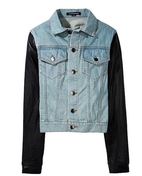 jacket leather denim