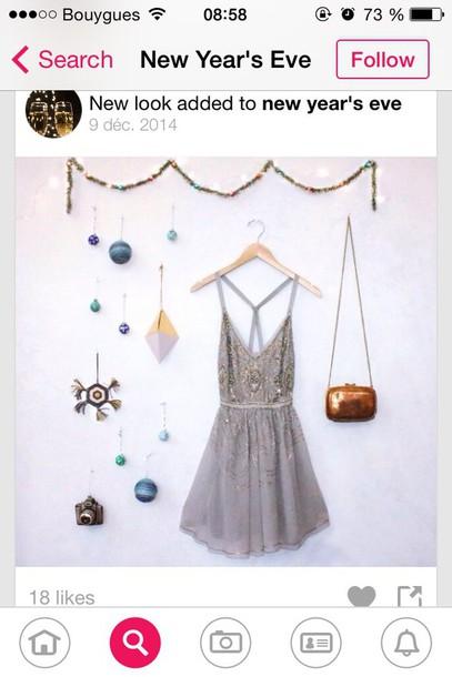 dress paillette dress sparkly dress