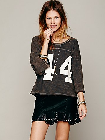 Free People Moonflower Studded Skirt at Free People Clothing Boutique