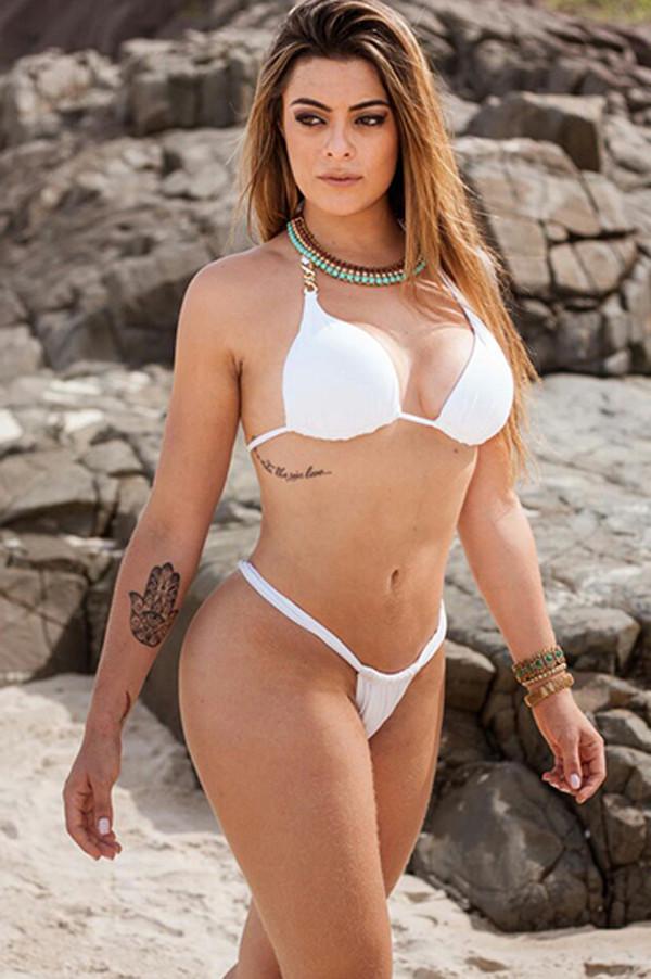 Swimwear Sexy White, Super Sexy, Cortininha, Brazilian -4029