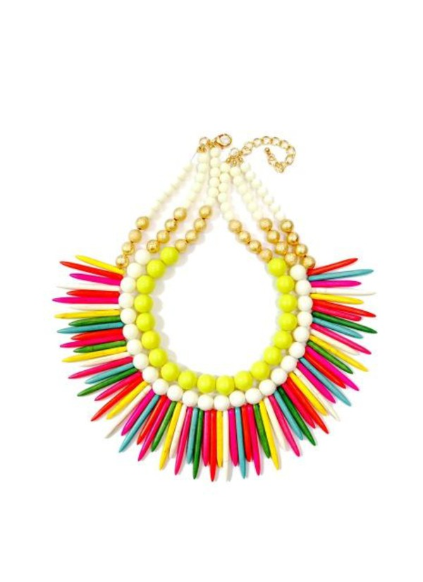 jewels necklace boho colorful trend 2014