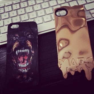 jewels phone cover iphone case gold melted tiger black