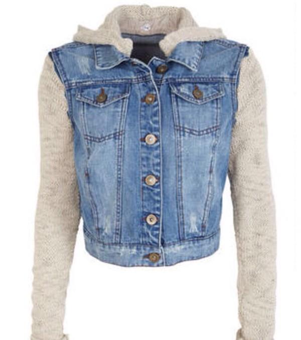 jacket denim jacket blue knitted cardigan hipster